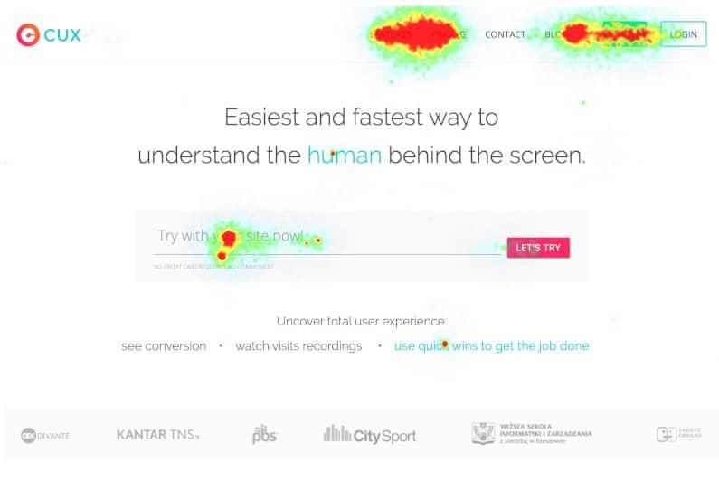 CUX.io's Heatmaps