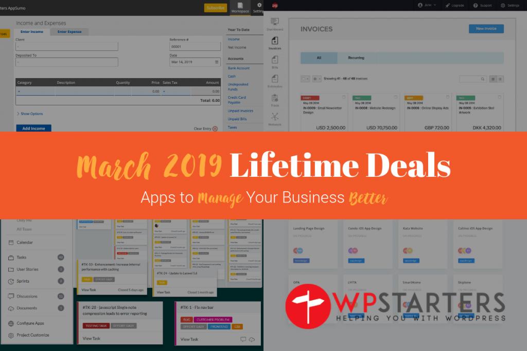 March 2019 Lifetime Deals: Manage Your Business Better