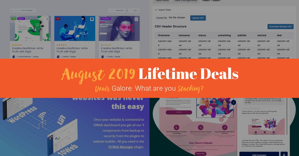 AppSumo August 2019 Lifetime Deals