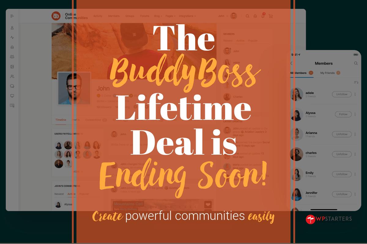 BuddyBoss Lifetime Deal Ending Soon