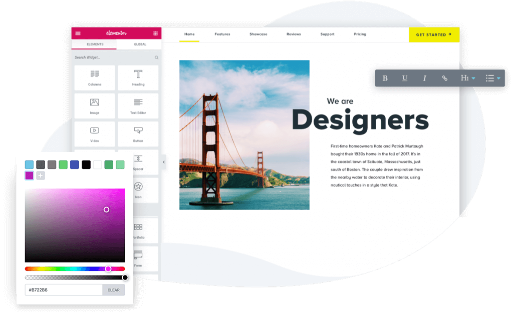 The Elementor Pro Page Builder