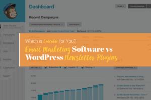 email marketing software vs wordpress newsletter plugins