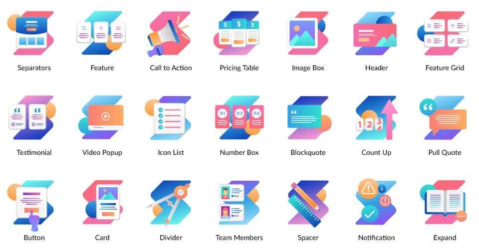 some of stackable premium's gutenberg blocks