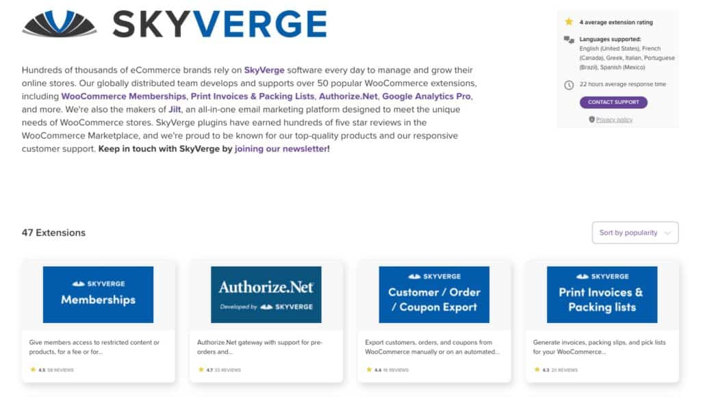 skyverge woocommerce extensions