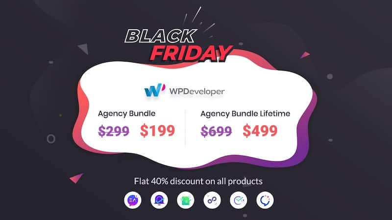 wpdeveloper black friday cyber monday agency bundle lifetime 2020